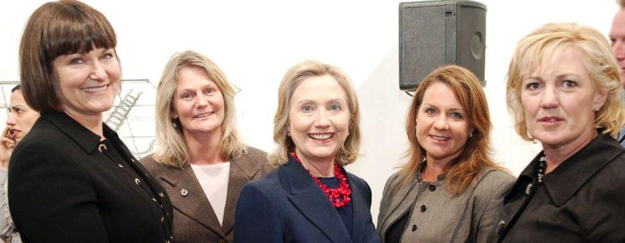 Judy meets Hillary Clinton